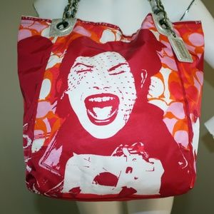 Coach Parker Bag Girl Laughing XL Tote 13405